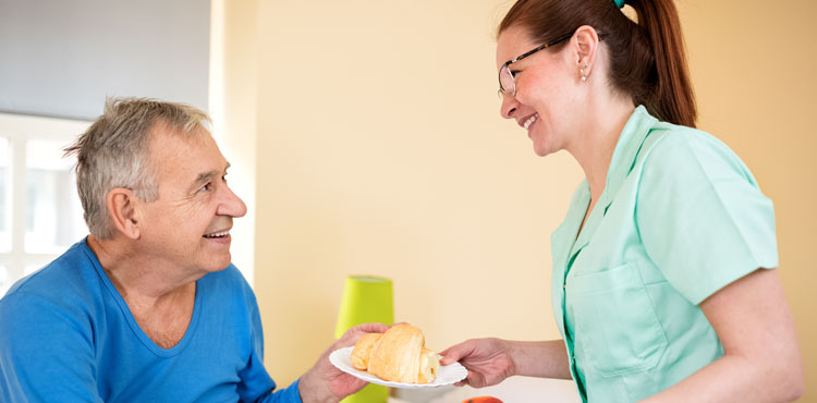 A man receiving skilled nursing care in Redding, CA